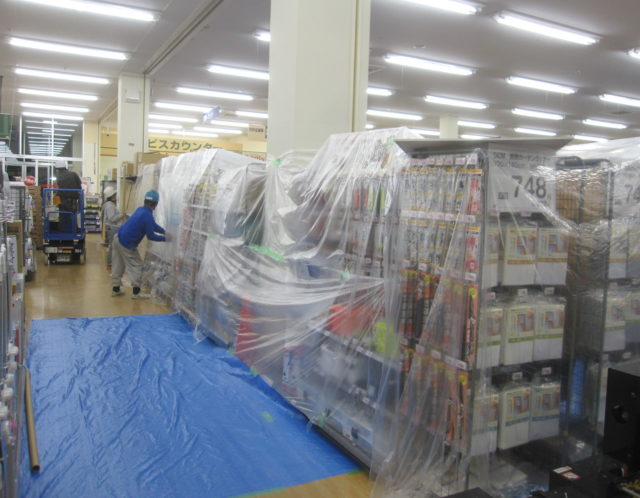 地震被害対応 夜間工事
